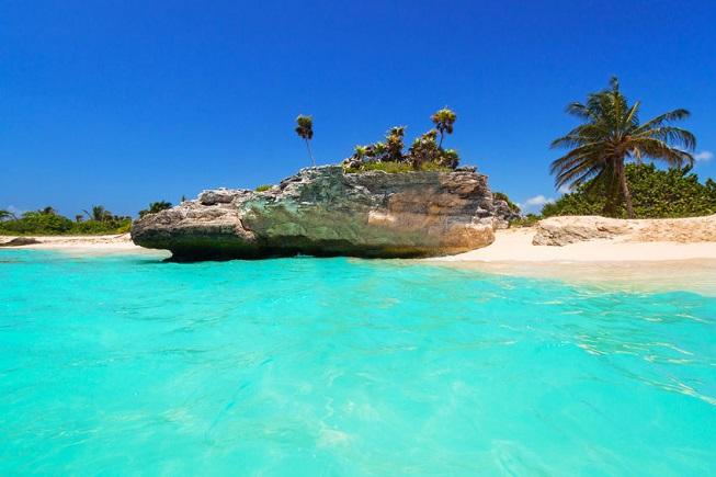 Spiaggia di sabbia bianca a Playa del Carmen