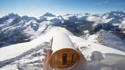 A Cortina, la sauna più alta delle Dolomiti