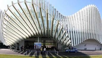 Reggio Emilia, inaugurata la stazione dell'alta velocità di Calatrava. Foto