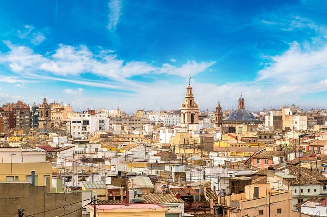Vista della città di Valencia