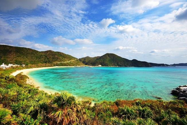 La spiaggia di Aharen sull'isola di Tokashiki ad Okinawa