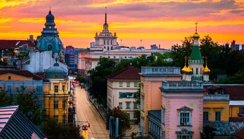 Viale Vitosha a Sofia, in Bulgaria