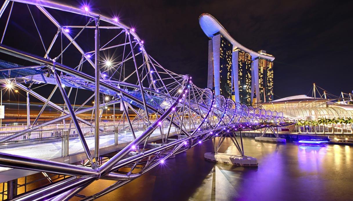 Helix Bridge by Cox Architecture (Marina Bay, Singapore)
