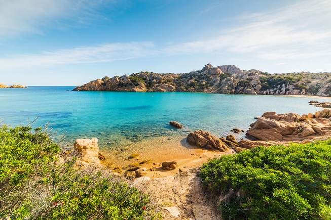 Spiaggia di Cala Spalmatore sull'Isola della Maddalena