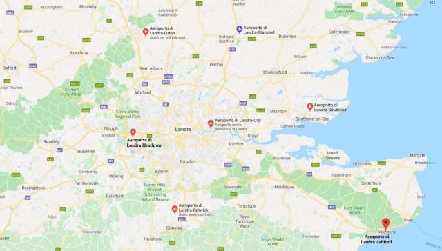 Cartina Aeroporti Puglia.Quanti E Quali Aeroporti Ci Sono A Londra Tutti I Dettagli Siviaggia