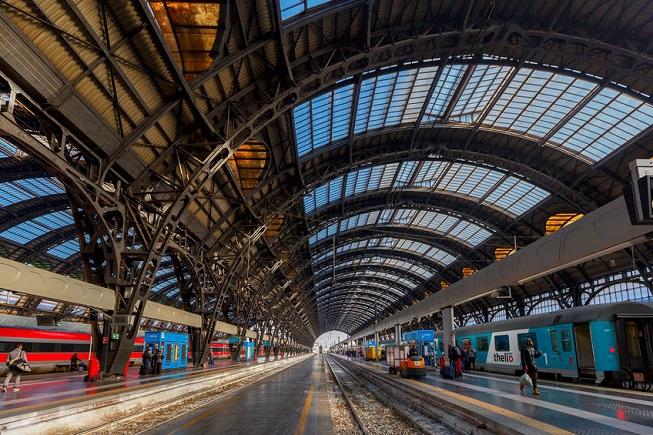 Interno della Stazione centrale di Milano