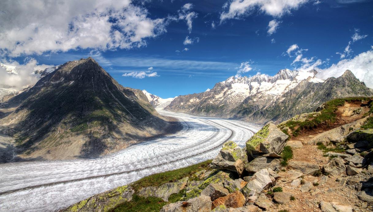 L'oceano di ghiaccio: il ghiacciaio dell'Aletsch in Svizzera ...