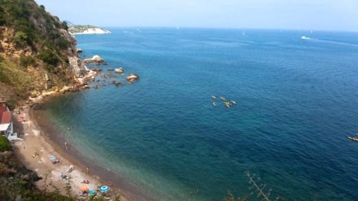 Come arrivare alla spiaggia Capo Bianco a Portoferraio