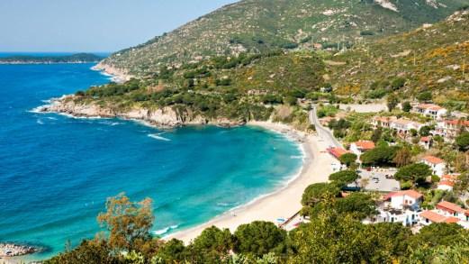 Spiagge di sabbia all'isola d'Elba