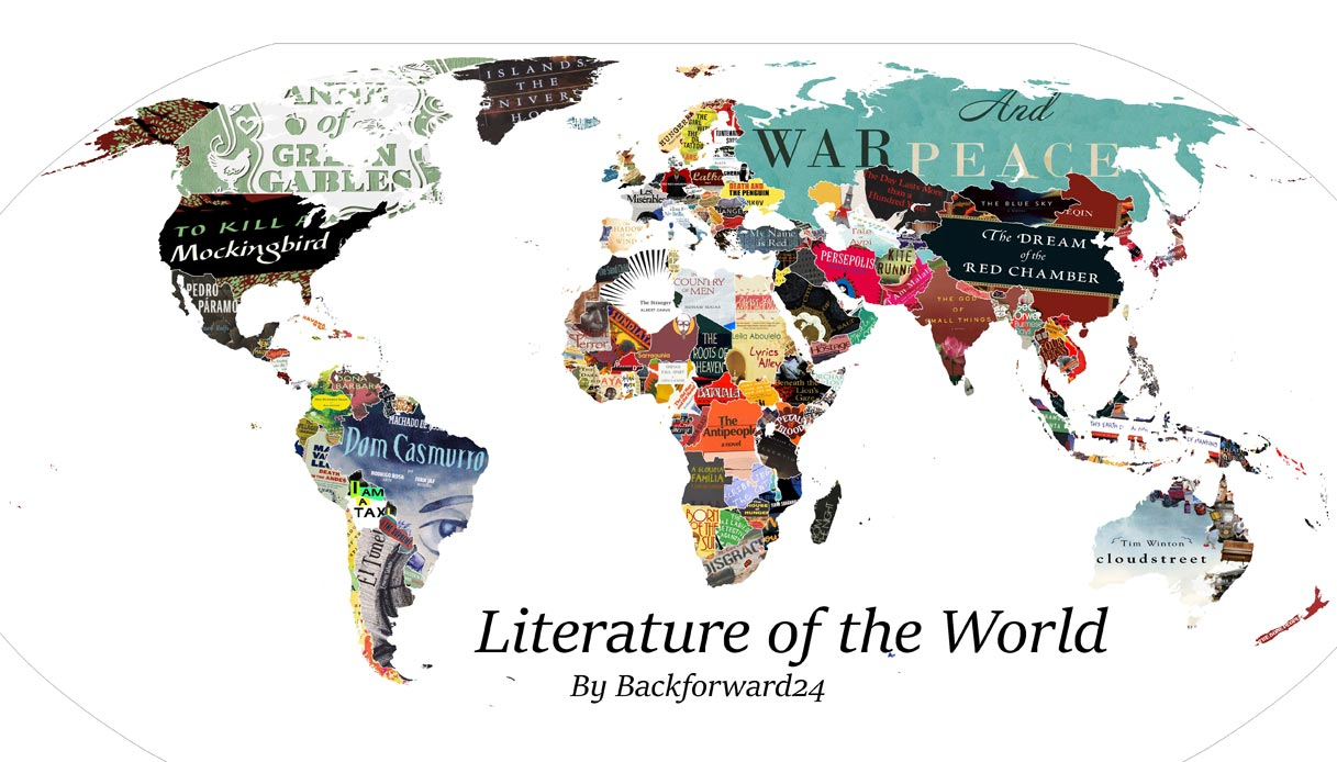 Cartina Mondiale Stati.La Mappa Della Letteratura Mondiale Foto 1 Di 8 Siviaggia