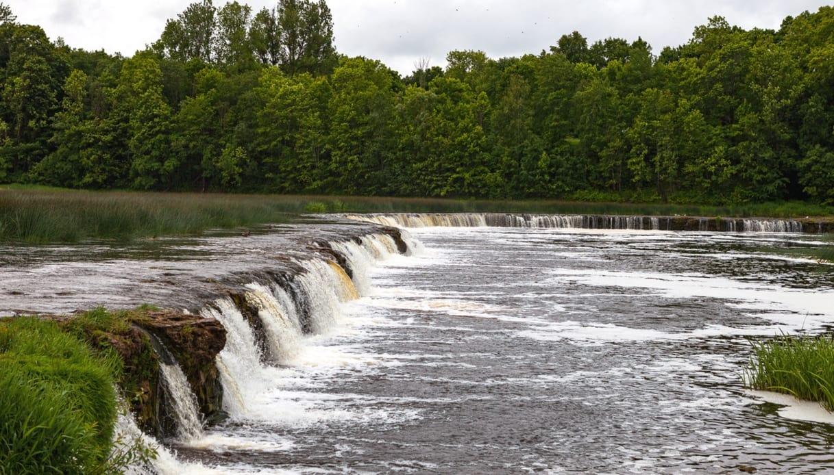 La cascata più larga e bassa d'Europa? È in Lettonia