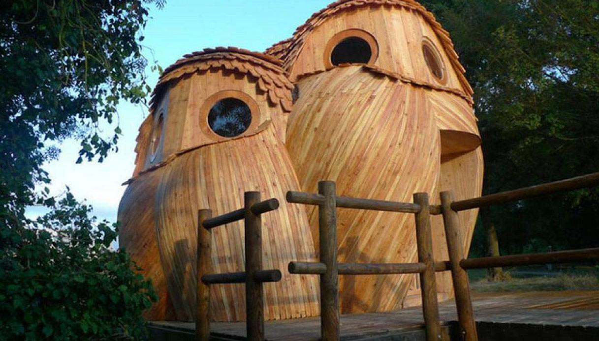 casa a forma di gufo