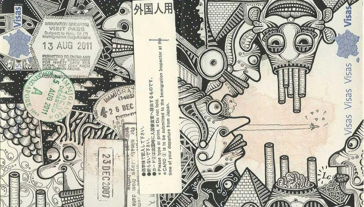passaporti illustrati Léonard Combier
