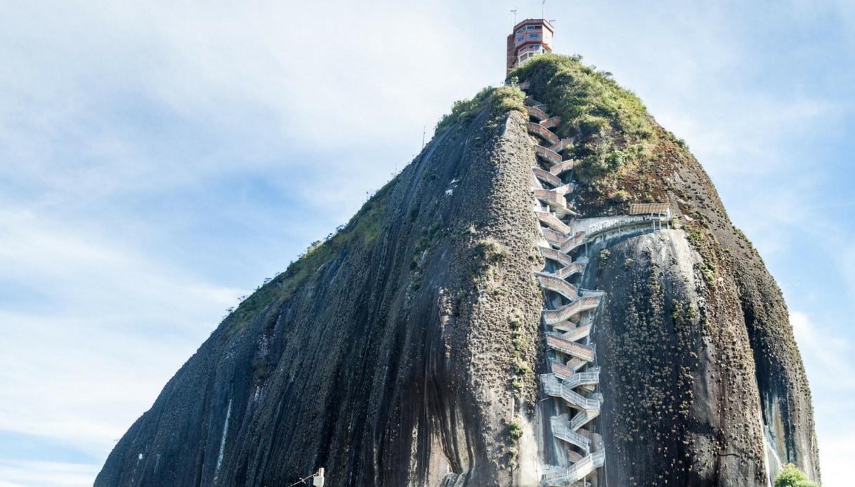 Colombia, la vertiginosa scala che arriva fino al cielo