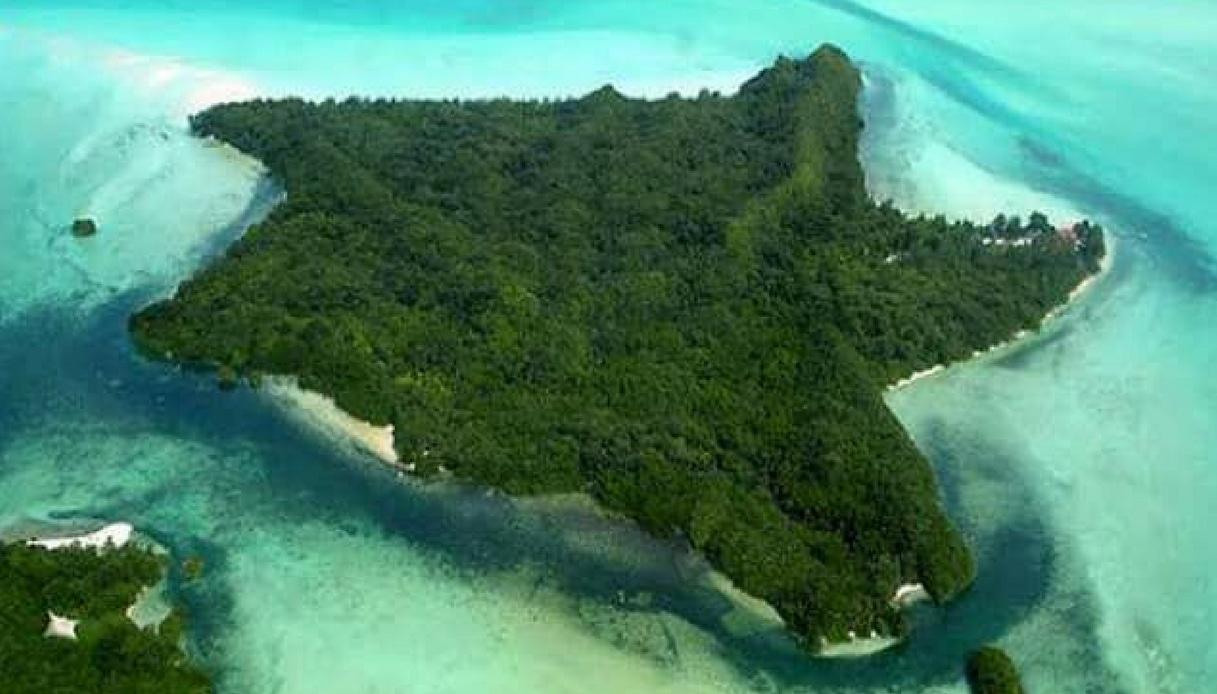 Carp Island, l'isola a forma di stella marina nell'Oceano Pacifico