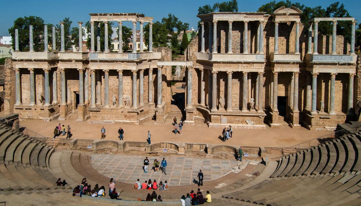 Il teatro romano di Merida in Spagna
