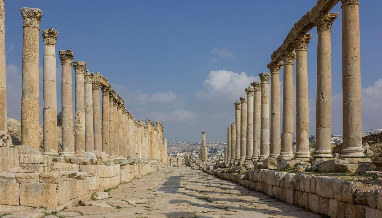 jerash città romana amman giordania