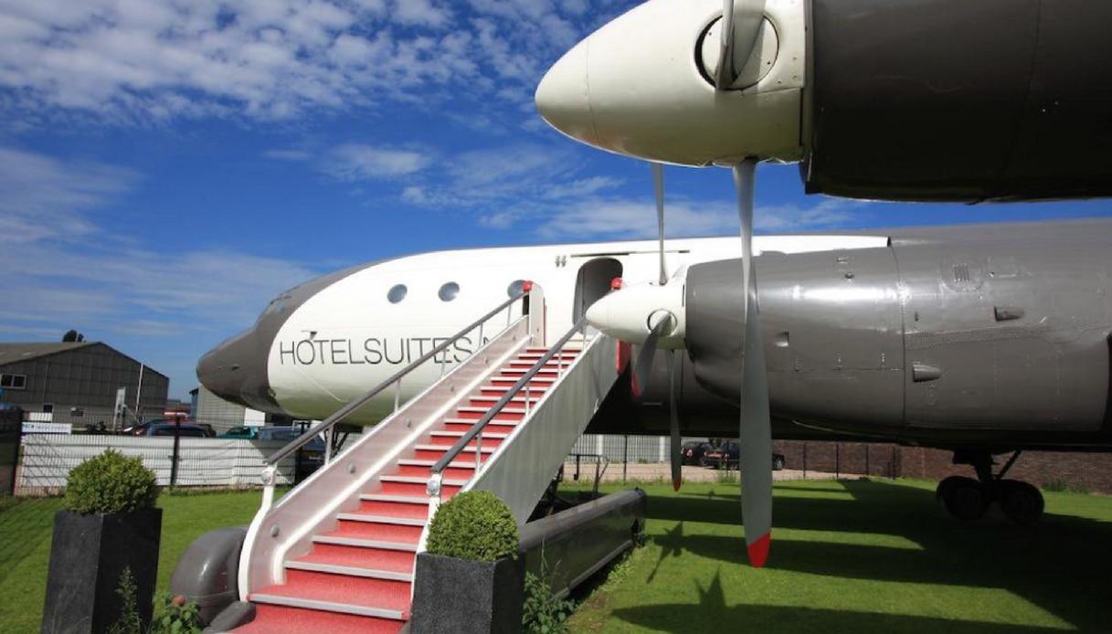Vliegtuigsuite hotel luxury
