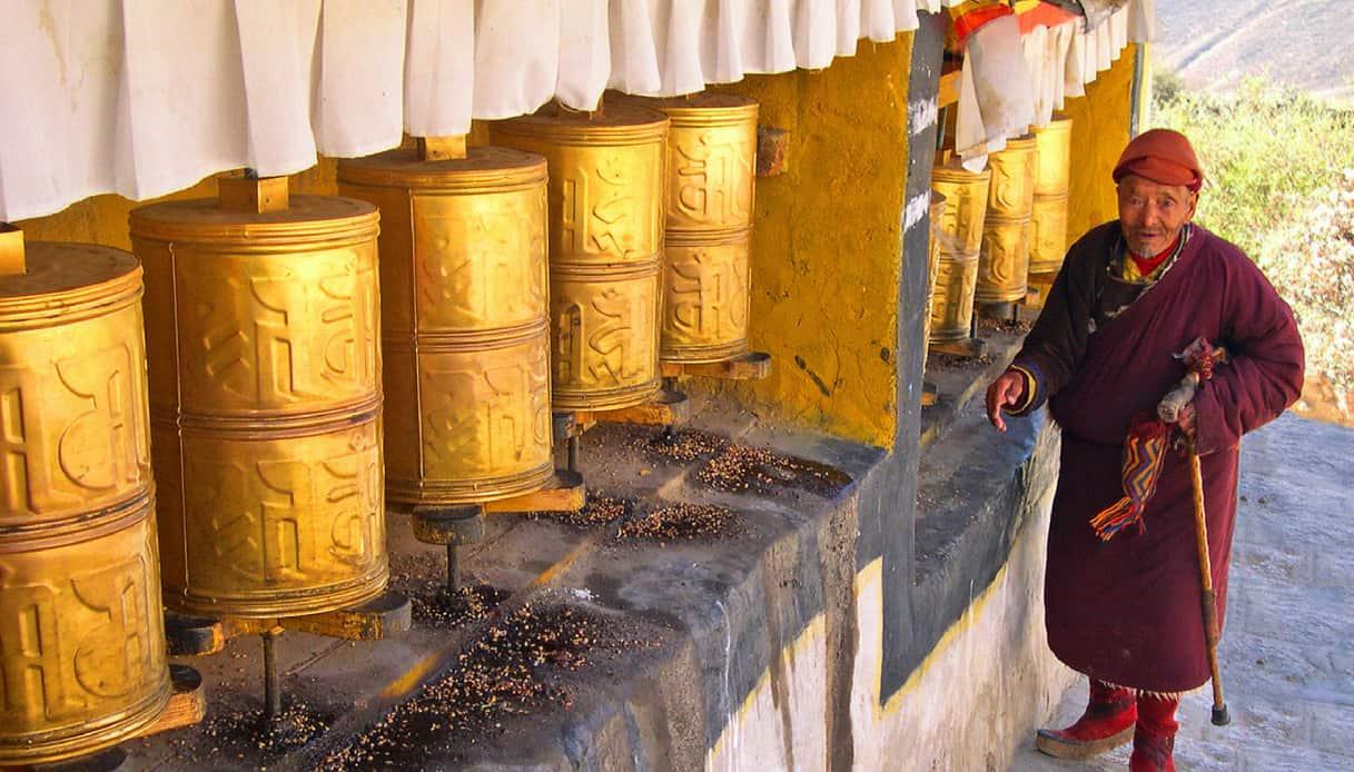 Le ruote di preghiera a Lhasa