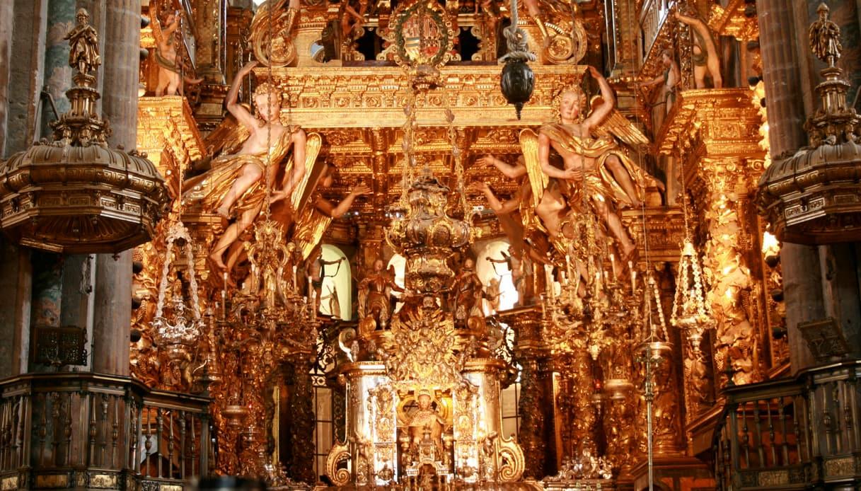 Interno della Cattedrale di Santiago di Compostela