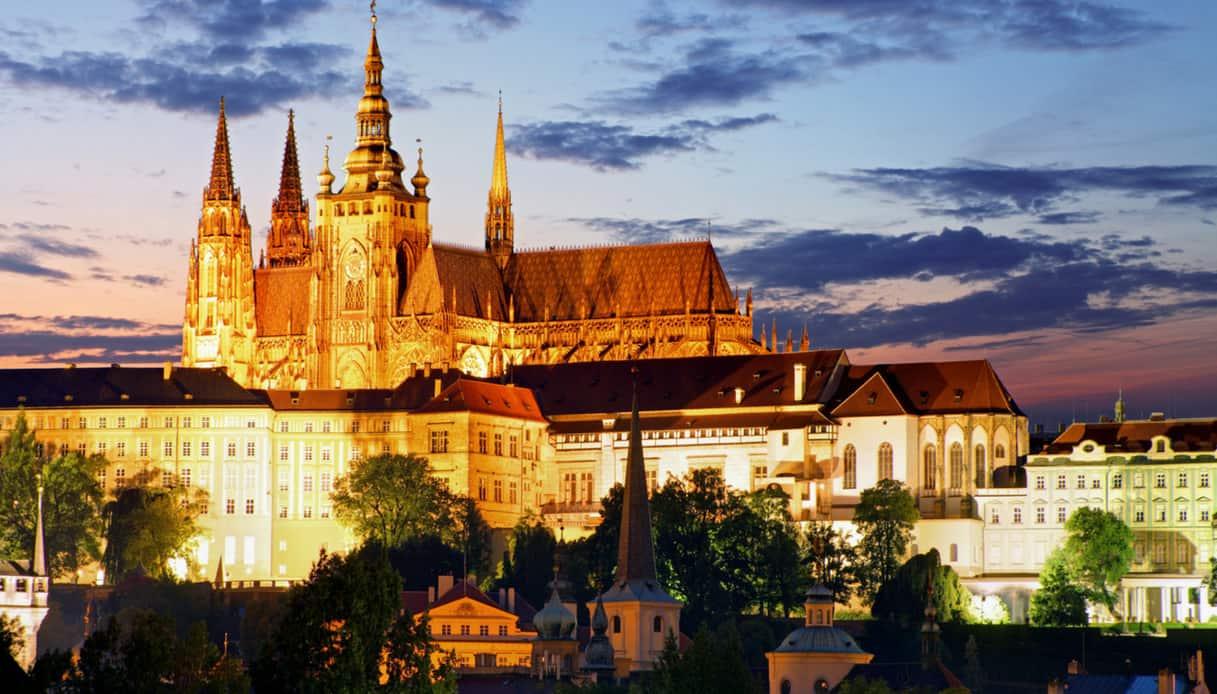 La collina di Hradčany e il Castello di Praga