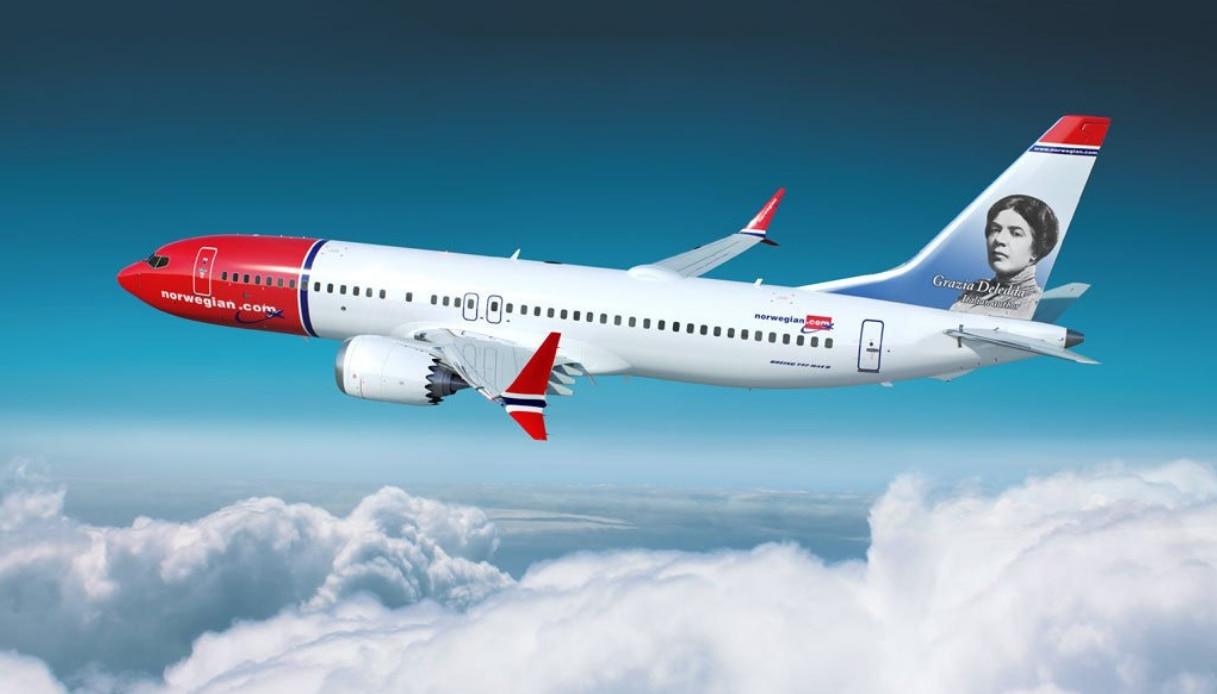 La compagnia low cost Norwegian dedica un aereo a Grazia Deledda