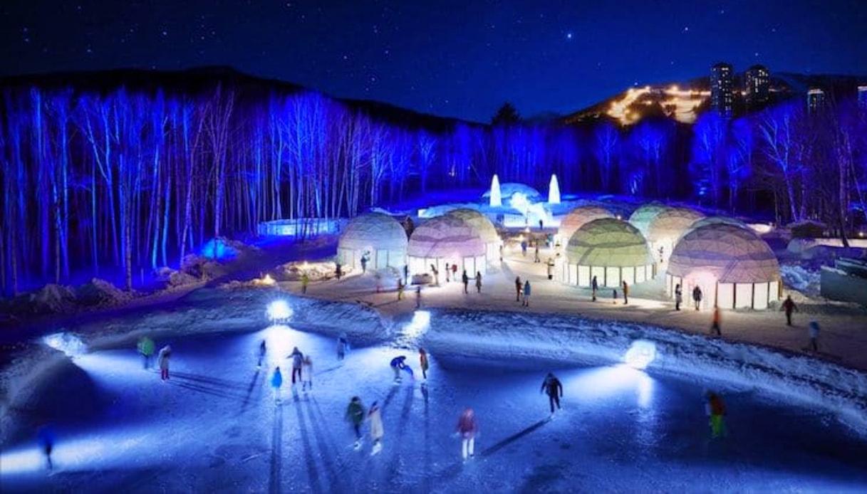 Villaggio ghiacciato in Giappone