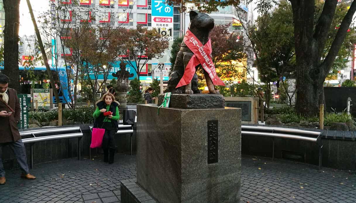 hachiko-tokyo-statua