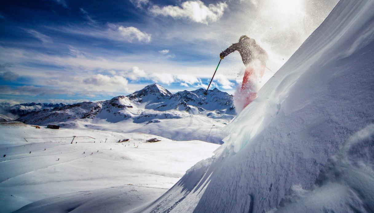 Sciare sulle Dolomiti
