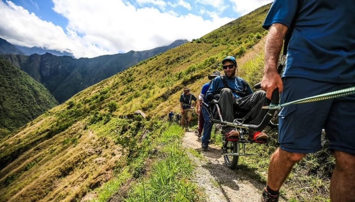 In sedia a rotelle, lungo l'Inca Trail