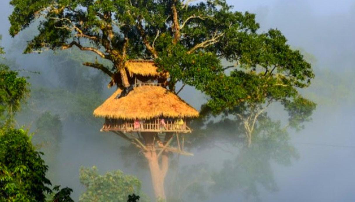 Laos - Casa sull'albero