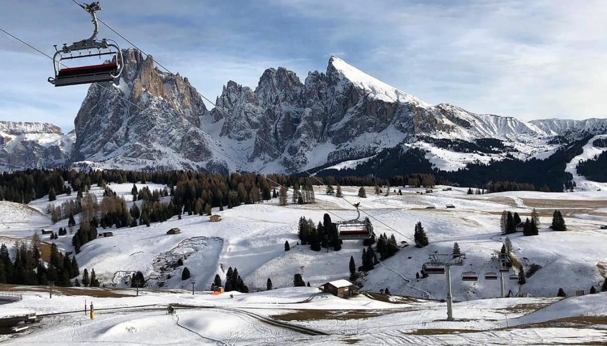 Sciare sull'Alpe di Siusi, come Fedez e Chiara Ferragni