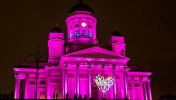 Helsinki: lo spettacolo del festival delle luci