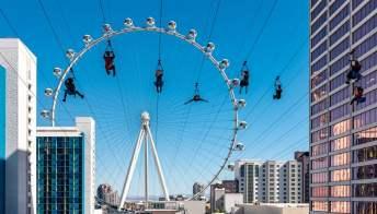 La Strip di Las Vegas ora si guarda dall'alto: arriva la zip line cittadina