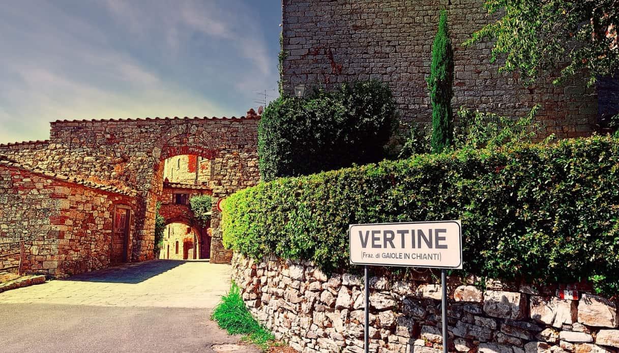 Vertine nel cuore del Chianti, un borgo dalla storia militare