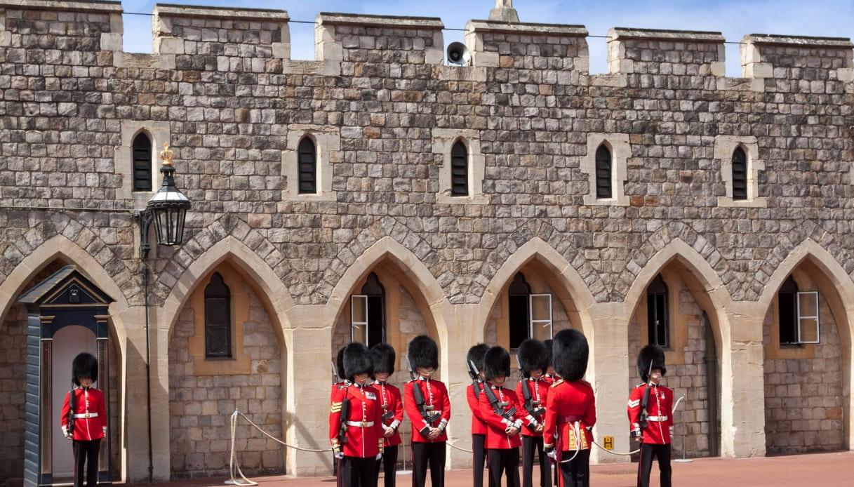 Cambio guardia Castello Windsor