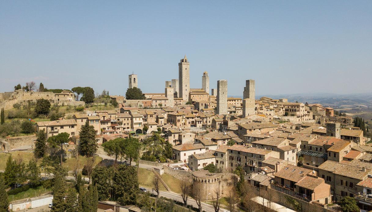 Vista del borgo di San Gimignano