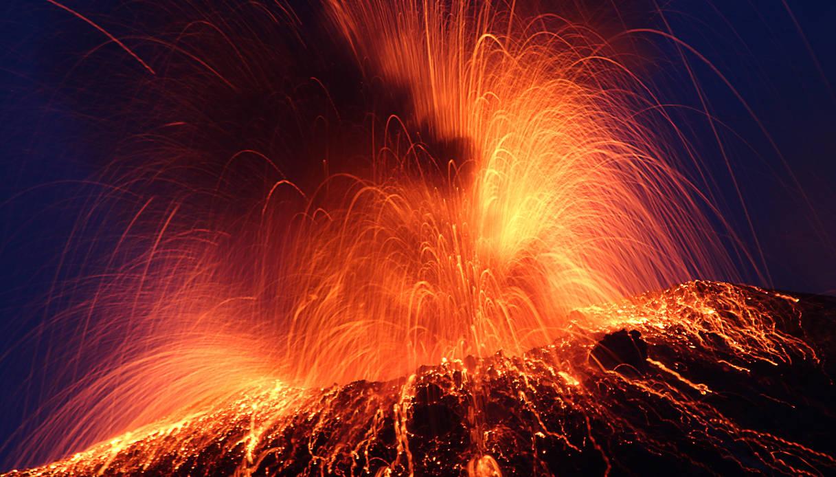 Eruzione del vulcano Stromboli
