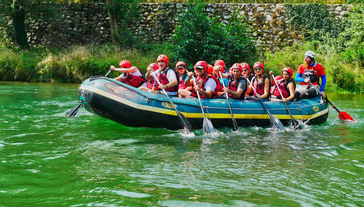 Fiumi dove fare rafting in Italia