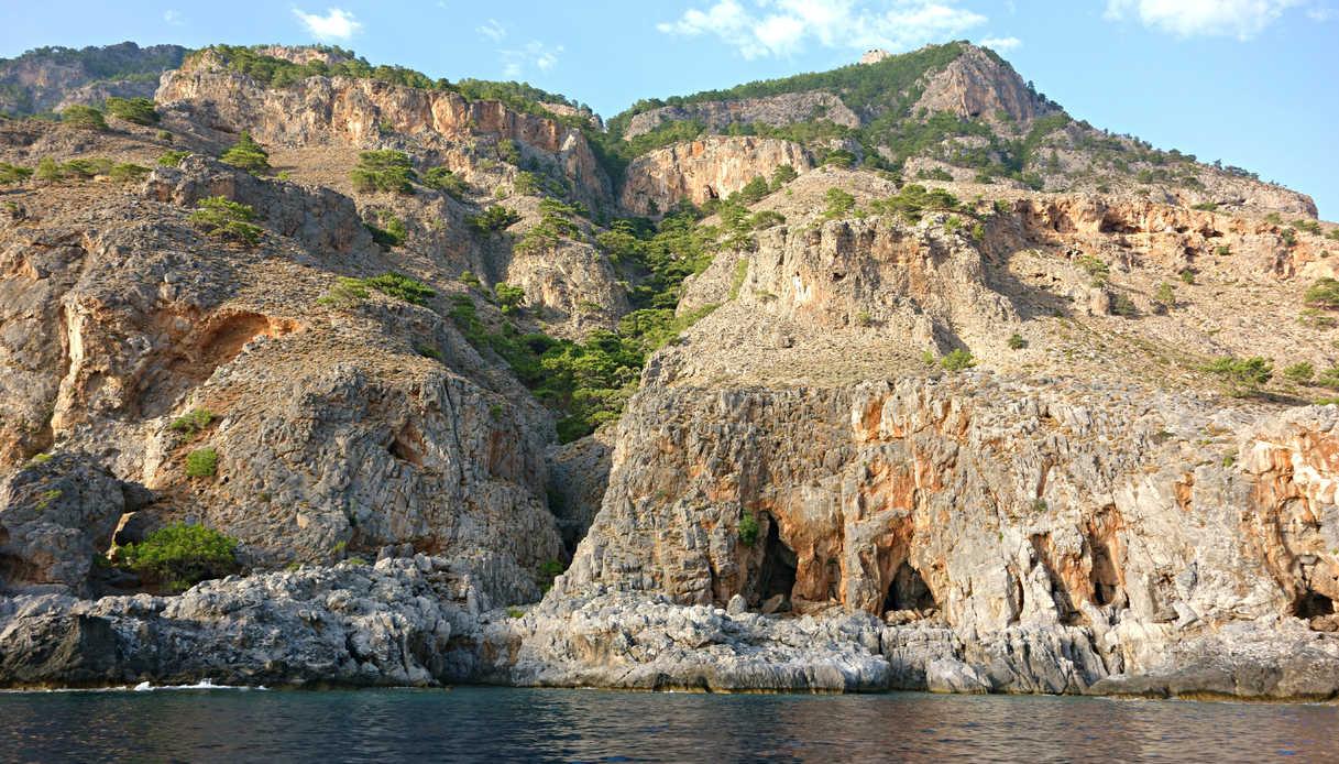 L'isola di Creta vista dal mare