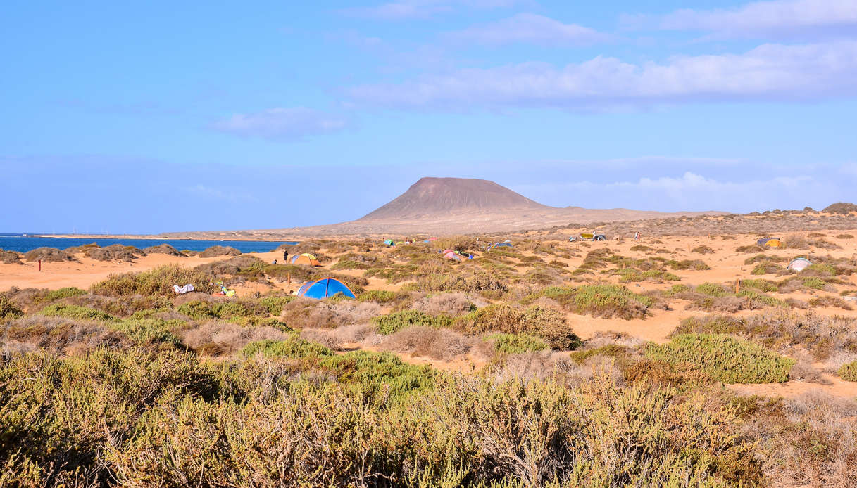 La parte interna dell'isola La Graciosa