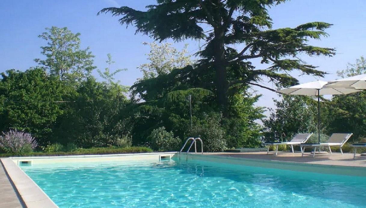 La piscina della casetta sull'albero