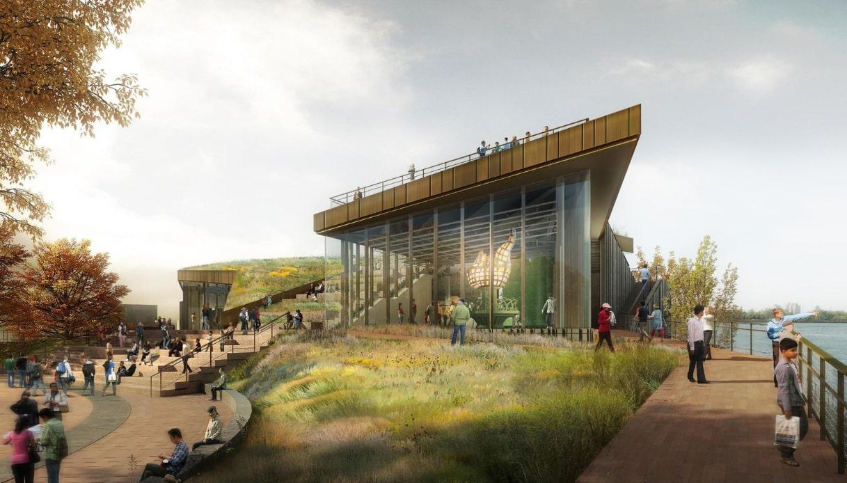 New York, apre al pubblico il nuovo museo della Statua della Libertà