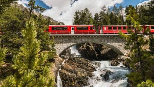 C'è una leggenda dietro al Trenino Rosso del Bernina