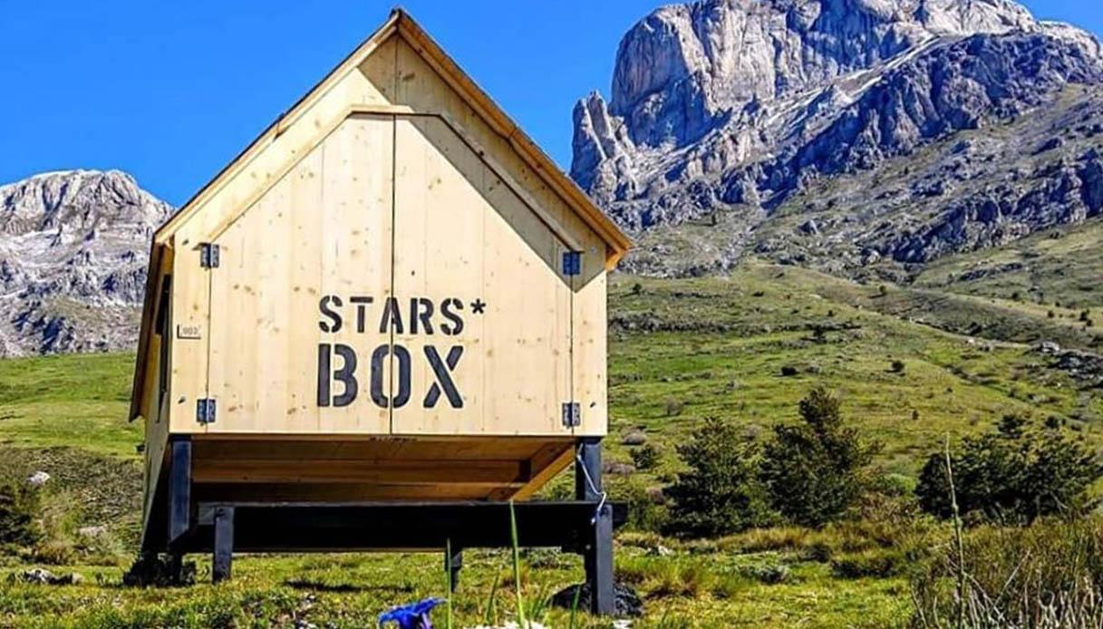 Stars box: la scatola di legno dove dormire e guardare le stelle