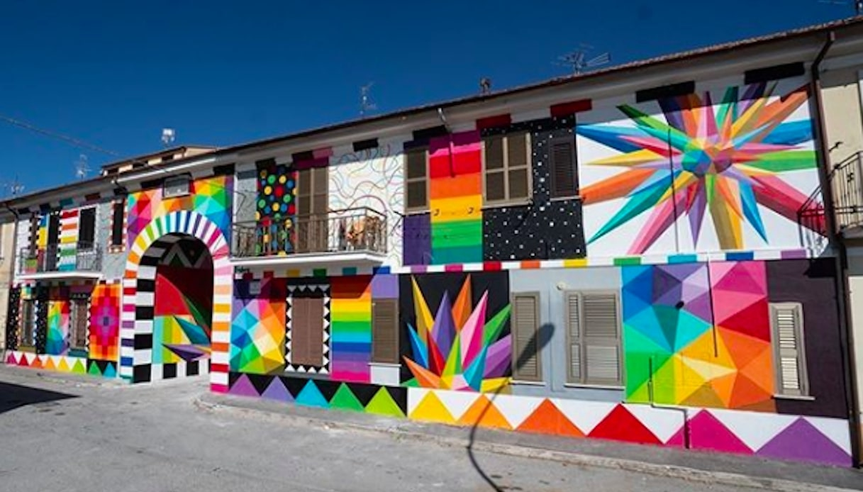 Aielli - Opera dello street artist Okuda