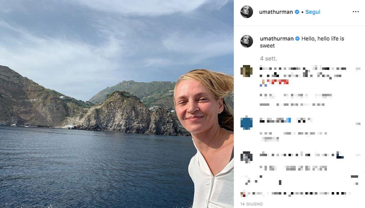 Uma Thurman a Capri