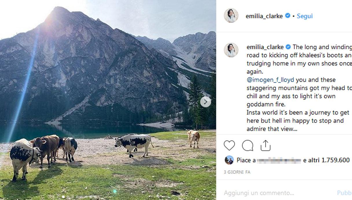 lago-braies-emilia-clarke-instagram