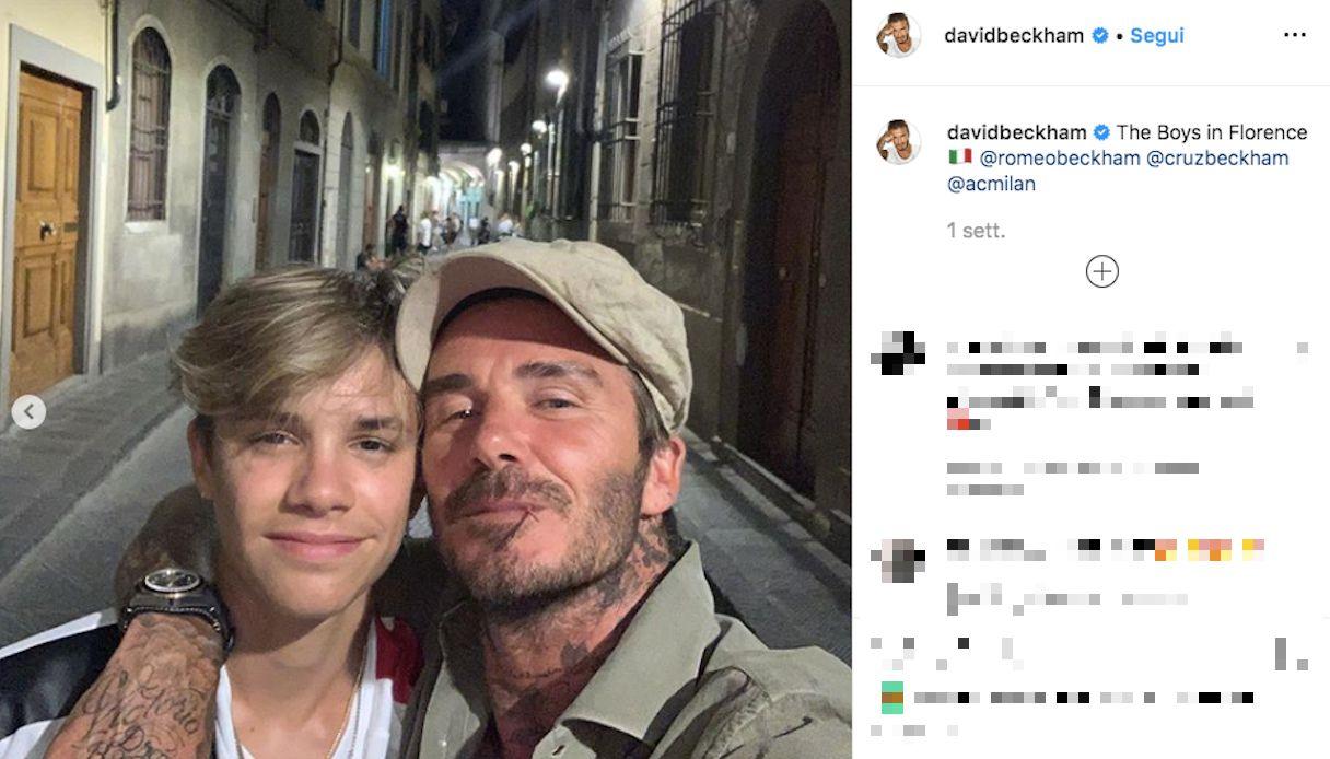 David Beckham a Firenze