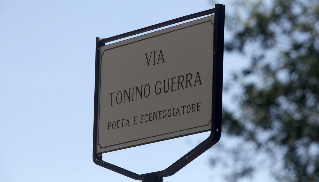 La strada dedicata a Tonino Guerra